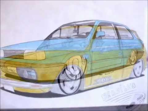 2 edição de desenhos de carros rebaixados