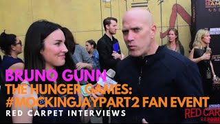 Bruno Gunn #Brutus at the The Hunger Games: #MockingJayPart2 Fan Event
