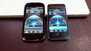 KT Tech olleh (Android) vs. iPhone 4 Speedtest