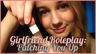 [BINAURAL ASMR] Girlfriend Roleplay: Patching You Up (for all genders, kisses, personal attention)