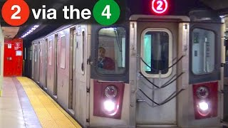⁴ᴷ 2 Trains Running around South Ferry Loop and via the 4 Line
