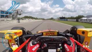 VISOR CAM: Ryan Hunter-Reay At Barber Motorsports Park