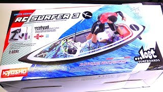 RC ADVENTURES - UNBOXiNG a Kyosho Surfer 3.0 Lost Edition RC Surfboard