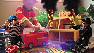 FIRE FIRE Again?! Call the Kid Police and Fireman.  Bad guys up to no good.