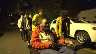 DISABLED MAN IN WHEELCHAIR FIGHTS IN THE HOOD