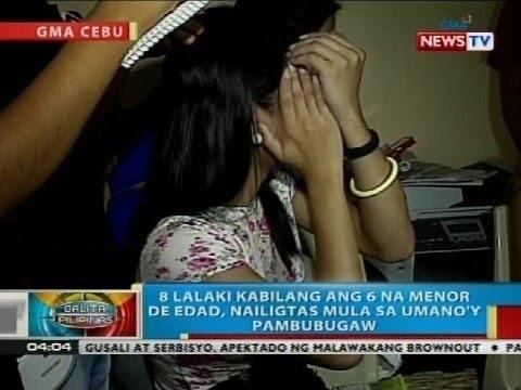 8 lalaki kabilang ang 6 na menor de edad, nailigtas mula sa umano'y pambubugaw sa Cebu City