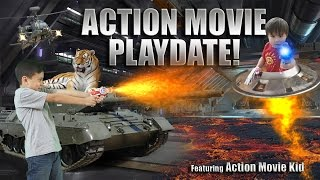 ACTION MOVIE PLAYDATE! Special Effects Adventure ft. Action Movie Kid!