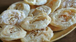 Homemade Indian Festival Faral (Sweet) Chiroti/चिरोटी EASY Recipe in मराठी/Marathi