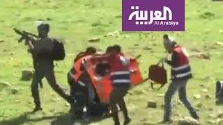 الدفاع المدني في رام الله يقلد نسرين عميرة وزملاءها وسام الشجاعة
