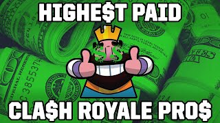 Top 10 Highest Paid Pros in Clash Royale (Total Earnings)