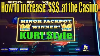 ★SUPER BIG WIN !!☆How to increase $$$ at the Casino / I will show you the KURI style (^_-)☆彡栗スロット