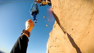 Sketchiest Zipline Access (raw footage)   Jimmy Pouchert