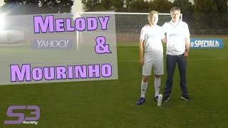 Melody DONCHET Football Freestyle World Champion & José Mourinho Chelsea's coach