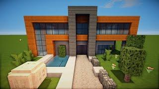 Minecraft Modernes Haus Freitag Hochhaus Braunweiß Bauen - Minecraft hauser zum nachbauen einfach