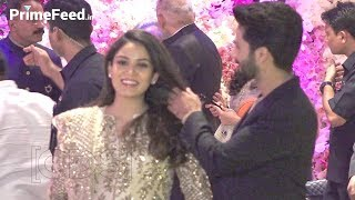 Shahid Kapoor Sweet Gesture Towards Pregnant Wife Mira Rajput At Akash Ambani Engagement Party