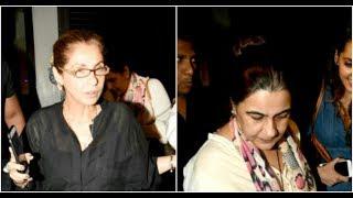 Besties Dimple Kapadia & Amrita Singh spotted at dinner party