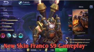New Skin Franco Season S9 Gameplay Mobile Legends