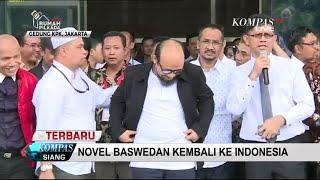 FULL - Inilah Suasana Penyambutan Novel Baswedan di KPK