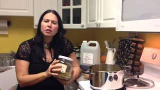 How to make a herbal infused oil (Dr K Roberts - Seasonal Health)