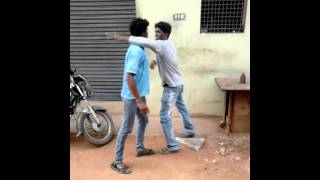Prakash and feroz practicing katipudi fight