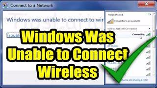 wireless problem windows 7 | Fix Windows was unable to connect WiFi Hotspot