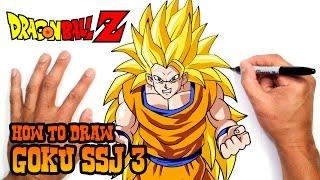 How to Draw Goku SSJ 3 | Dragon Ball Z