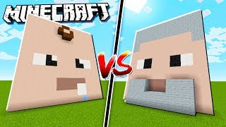 BABY HOUSE vs ADULT HOUSE in Minecraft!