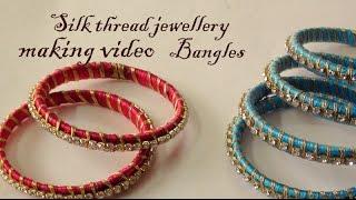 Silk thread jewellery  Bangles making video