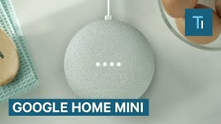 This is the Google Home Mini — Google's answer to Amazon Echo Dot