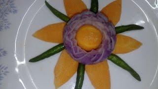 পেয়াজ  এর তৈরী ফুল/Onion Flower