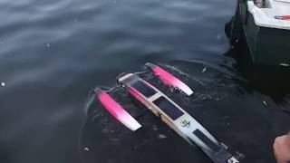RC Powerboat meeting Germany (July 2018 Part 5) Twin Rigger self-made