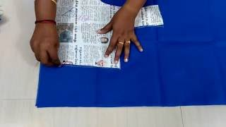 Lining blouse cutting in tamil Part 1