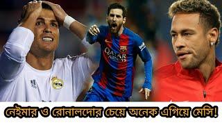 মেসির ধারেকাছেও নেই রোনালদো ও নেইমার!! অনেক এগিয়ে আর্জেন্টাইন ফুটবল জাদুর   Messi Neymar CR7