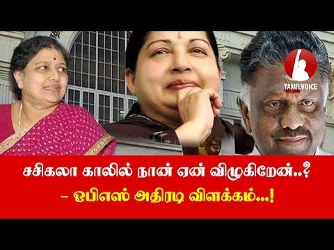சசிகலா காலில் நான் ஏன் விழுகிறேன்..? - ஓபிஎஸ் அதிரடி விளக்கம்...! - Tamil Voice