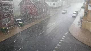Heavy rain in Odense, Denmark (25th july 2016)