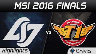 CLG vs SKT Highlights Game 3 MSI 2016 Finals Counter Logic Gaming vs SK Telecom T1