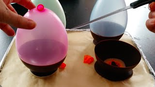 How To Make Chocolate Balloon Bowls...