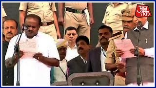 H.D. Kumaraswamy Takes Oath As Karnataka Chief Minister In The Name Of The People