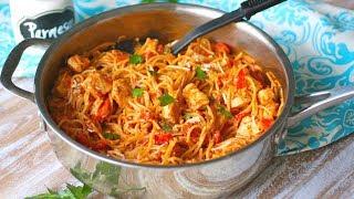 Chicken Spaghetti - ماکارونی با گوشت مرغ
