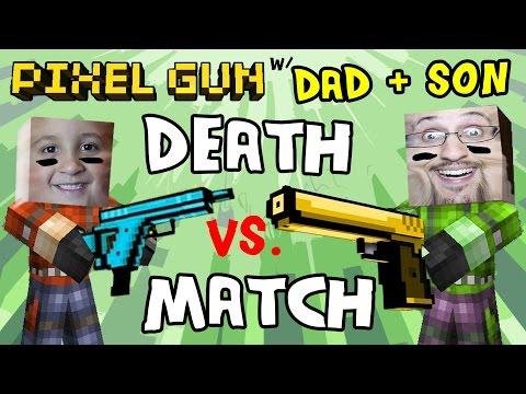 Pixel Gun W/ Dad & Son: Captain America is O.P.! / Mike's Peek Cheat (pt. 4)