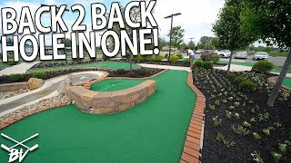 GIRLFRIEND GETS A CRAZY BACK TO BACK MINI GOLF HOLE IN ONE! | Brooks Holt