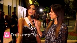 Paulina Vega durante el Miss Universo