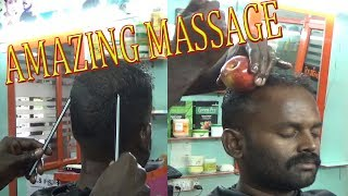 RELAXING and INTERESTING OIL HEAD MASSAGE with PENCIL ~ APPLE,,,