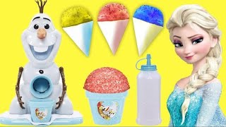 OLAF SNOW CONE MAKER, Disney Queen Elsa, Princess Anna, Yummy Fun Treats Kids Toys / TUYC