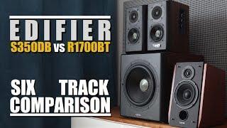 Edifier S350DB vs Edifier R1700BT  ||  6-Track Comparison