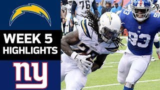 Chargers vs. Giants | NFL Week 5 Game Highlights
