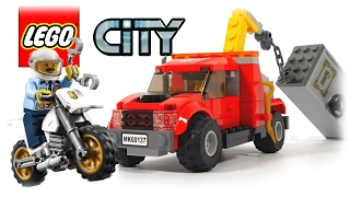 LEGO City Police 60137 Tow Truck Trouble, Police and Robbers in the Car Review Toys for Kids