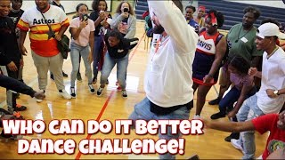 WHO CAN DO IT BETTER DANCE CHALLENGE WITH SUPPORTERS!!!