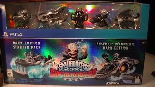 SKYLANDERS SUPERCHARGERS DARK EDITION PS4 UNBOXING