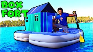 BOX FORT ON WATER! **Our BEST FORT EVER?!**